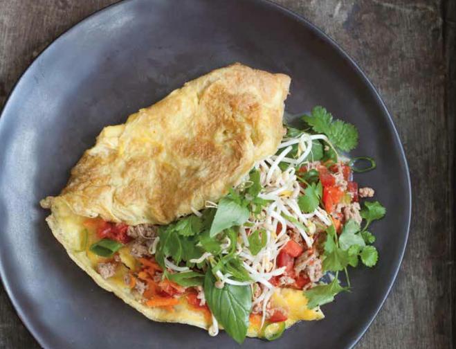 thais gevulde omelet